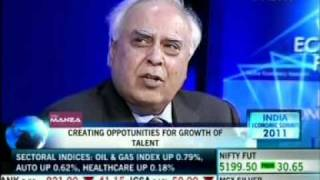 Ankit Fadia in World Economic Forum-India Economic Summit NDTV Debate on India's Future Talent Pool