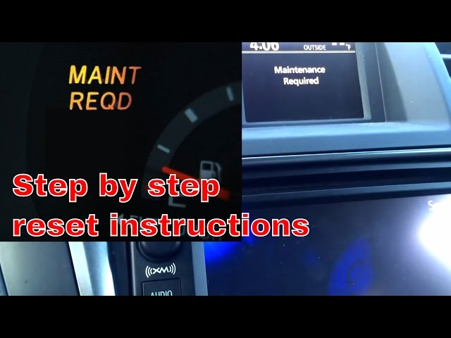 2013 Toyota highlander maintenance required on - YouTube