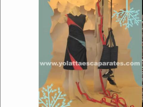 Cómo decorar un escaparate de moda. Técnicas de trabajo 7