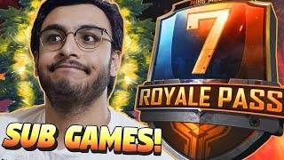 PUBG MOBILE LIVE: SUB GAMES TEAM DEATCHMATCH, VIKENDI | SEASON 7 ROYAL PASS RANK PUSH | NEW UPDATE