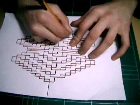 Kirigami Tutorial Crazy X Youtube
