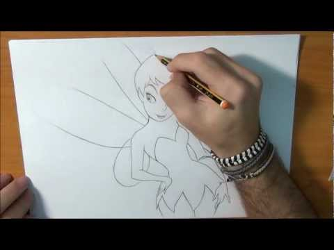 Dibujar a Campanilla de Peter Pan - How to draw Tinker Bell of Disney
