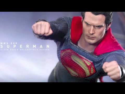 Man Of Steel Hot Toys Superman 1/6 Scale Figure & Sideshow Collectibles 1/4 Scale Statue Revealed!