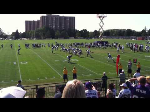 Minnesota Vikes Greg Childs Catch on DB's back