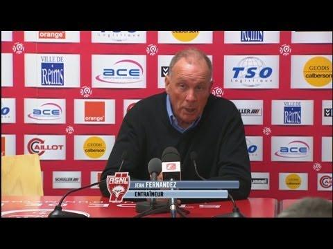 image vidéo  Conférence de presse Stade de Reims - AS Nancy Lorraine (2-0)