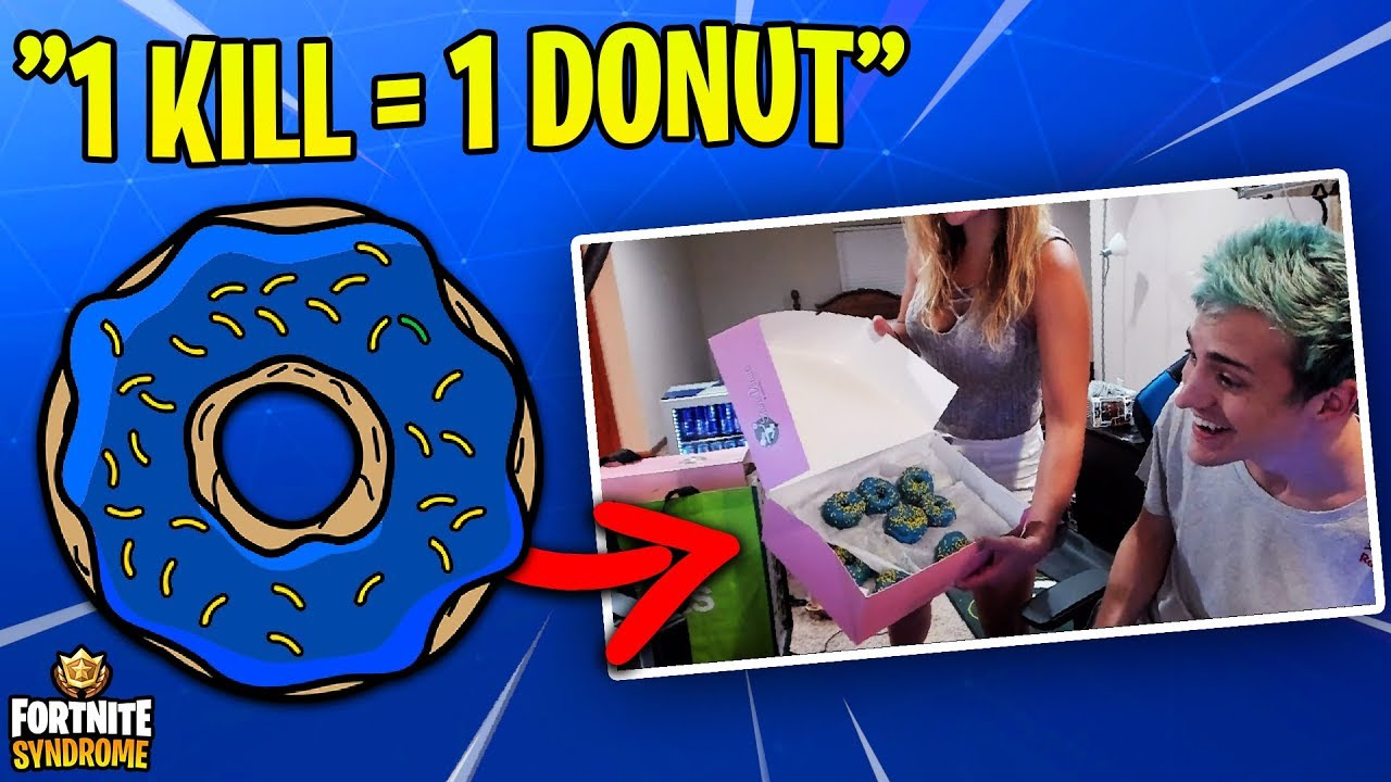 NINJA TAKES ON THE DONUT CHALLENGE /w WIFE! (1 kill = 1 donut)