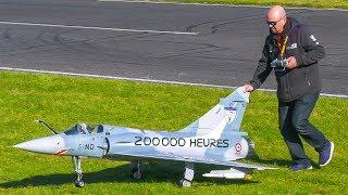 RC SCALE MODEL JET DASSAULT MIRAGE 2000 DEVILLE IN DEMO FLIGHT!! *RC MODEL AIRPLANE
