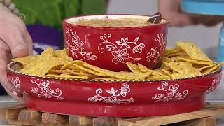 Temp-tations Old World or Floral Lace Chip and Dip Cake Pedestal on QVC