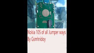 Nokia 105 mic line jumper Ways,Lcd Line Jumper Ways, Ringer And Speaker Line Jumper ,and Charging j