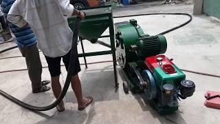 Hướng dẫn cho khách hàng phun vữa bằng động cơ Diesel tại xưởng sản xuất Nam Phú Lộc 0915911533