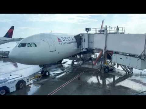 Delta Air Lines A330 Atlanta to Madrid 5.31.16  *full flight*
