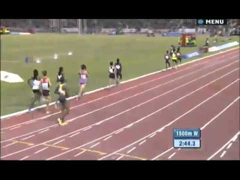 1500 m women IAAF Diamond League Doha 2013
