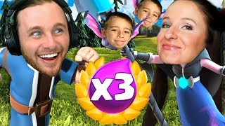 CLASH ROYALE 3X ELIXIR CHALLENGE WITH MY SON AND WIFE!!