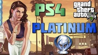 GTA 5 - PS4 - PLATINUM TROPHY (100% GAME COMPLETION)