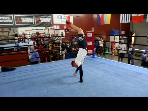 Watch Vasyl Lomachenko's weird & unusual boxing training methods