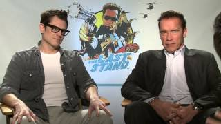 The Last Stand (2013) Exclusive: Arnold Schwarzenegger and Johnny Knoxville (HD) Arron