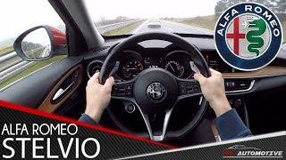 Alfa Romeo Stelvio Q4 280 HP POV Dynamic Test Drive + Acceleration 0 - 200 km/h