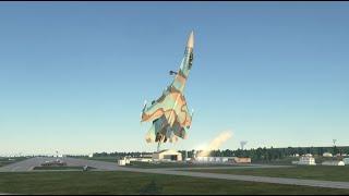 DCS World - Su-27 - Pugachev's Cobra Landing - Су-27 - Кобра Пугачева с посадкой.