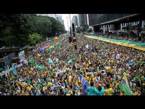 BRAZIL 3 MILLION Man Protest - Brink of UNREST