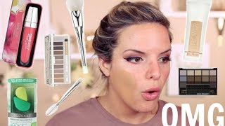 Download FULL FACE OF FIRST IMPRESSIONS! DRUGSTORE Makeup & Tools! | Casey Holmes 3Gp Mp4