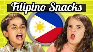 KIDS EAT FILIPINO SNACKS! | Kids Vs. Food