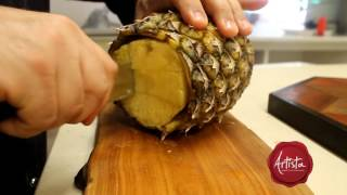 Knife skills:  the easiest way to cut a pineapple
