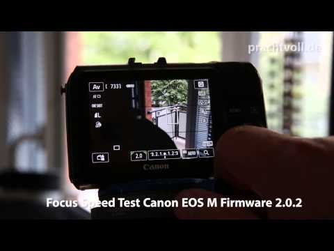 Canon EOS M Focus Speedtest Firmware 2.0.2 vs 1.0.6