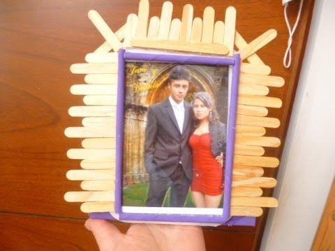 Portaretrato con palos de paleta manualides yeye youtube - Productos de madera para manualidades ...