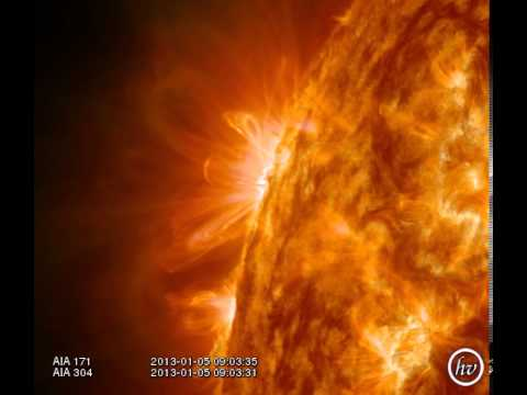 M Class Flare...Eastern Limb. Jan 5, 2013
