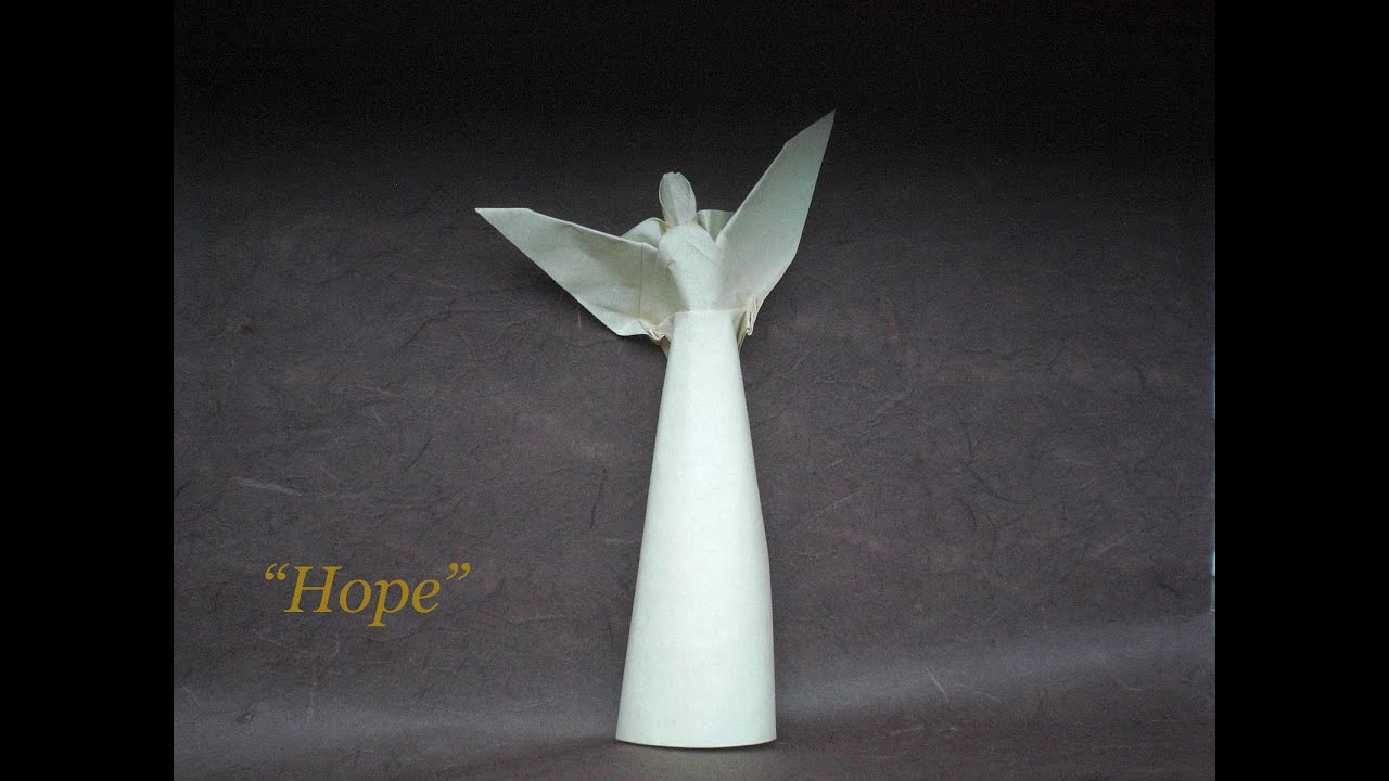 lets fold an origami angel quothopequot by alexander kurth