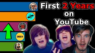 Their First Two Years on YouTube - Who Grew the Fastest? (YouTube Subscriber History)