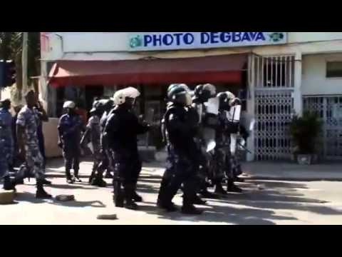 Togo Police Fire Tear Gas, Water Cannon To Break Up Opposition March
