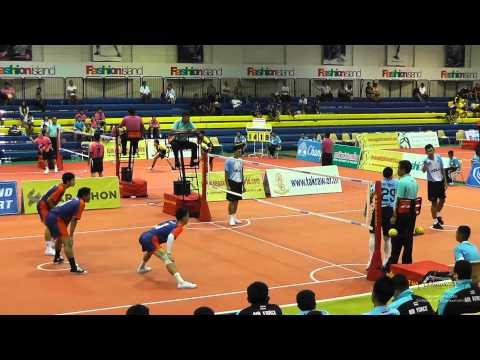 Sepak Takraw Prince Cup 2014 - Air Force Vs. Port Authority Of Thailand video
