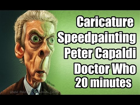 Caricature Speedpainting with Marcus: Peter Capaldi - Doctor Who 20 minutes