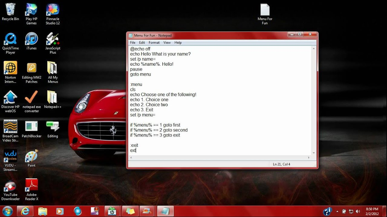 how to create a private.batch file
