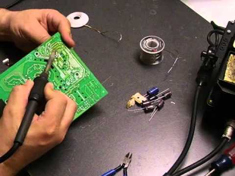 Repairing the Dell E198FPf LCD monitor - Part 2 board repair