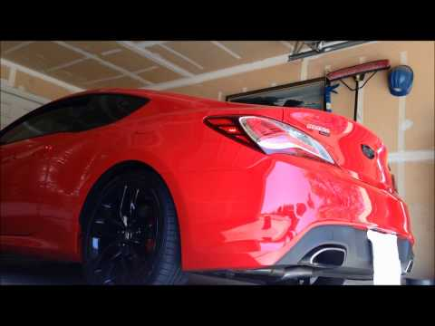 2013 Hyundai Genesis coupe 3.8 R-spec exhaust sounds + race