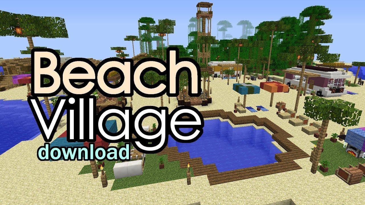 Minecraft Beach Village Final Updates Download Youtube