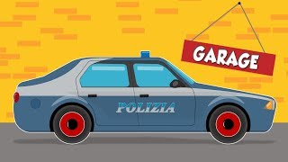 Polizia Car | Car Garage For Kids | Cartoon about cars for Children and babies | Fun to learn