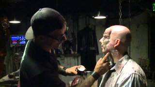 Make up behind the scenes mortuary