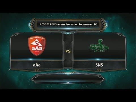 aAa vs SNS game 3 LCS 2013 EU Summer Promotion Tournament D3