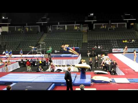 Katelyn Ohashi - 2012 Kellogg&#039;s Pacific Rim Championships Podium Training - Vault