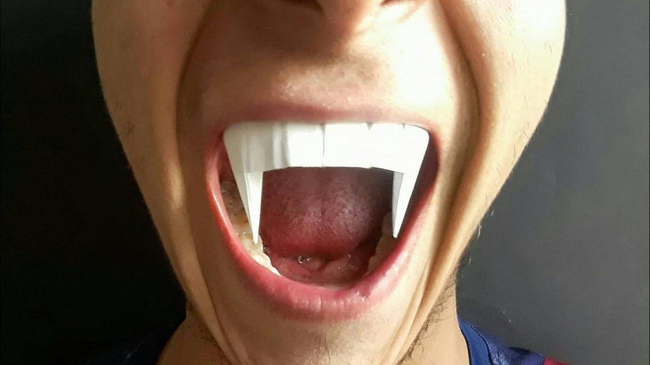 Как сделать клыки вампира своими руками видео