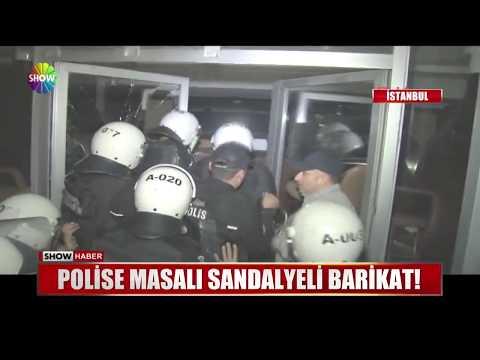 Polise masalı sandalyeli barikat!