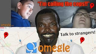 African Rebel Scares Disrespectful People On Omegle! Location Found
