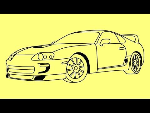 Видео как нарисовать Тойоту