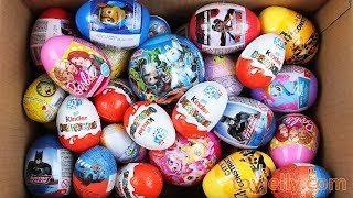 Unboxing New Kinder Joy Toys and 5 Big Surprise Eggs for Boys & Girls Construct Car Building Block