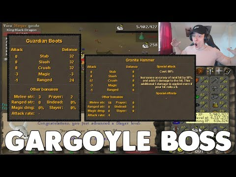 Runescape: NEW GARGOYLE SLAYER BOSS