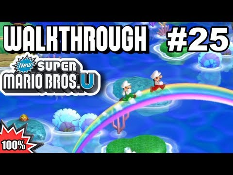 New Super Mario Bros. U 100% Multiplayer Walkthrough - Part 25 - Secret Exits #1