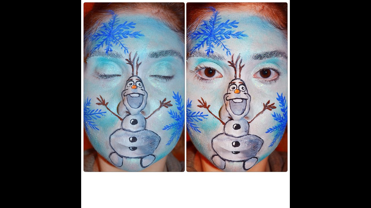 olaf frozen makeup tutorial
